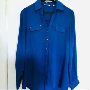Tops - Royal Blue Blouse Size S